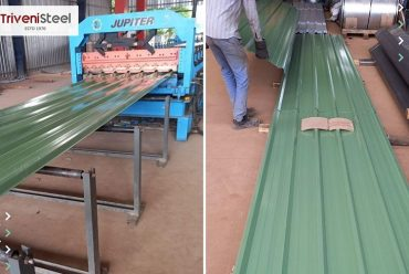 Triveni Steel Supplied 40MT Pre-Painted Galvanized Roofing Sheets To Encon Fabricators.